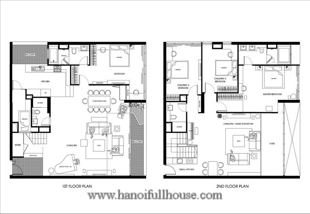 Luxury duplex apartment in mandarin garden hanoi with 4 for Luxury duplex house plans