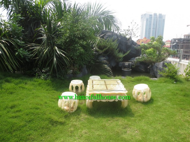ROMANTIC APARTMENT WITH BEAUTIFUL GARDEN, GYM AND FULLY FURNISHED IN TAY HO DIST