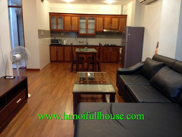 BIG SERVICED APARTMENT FOR RENT IN DONG DA, HA NOI. GOOD FURNITURE, WELL DESIGNED