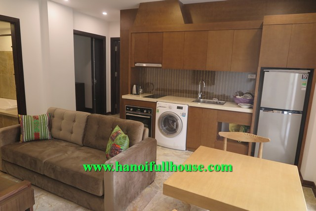 WONDERFUL GARDEN 01 BEDROOM SERVICED APARTMENT RENTAL IN XUAN DIEU, TAY HO DISTRICT