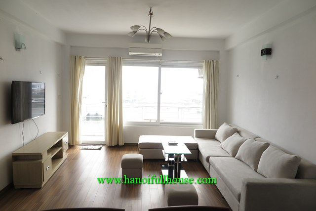 A NICE & BIG ONE-BEDROOM SERVICED APARTMENT WITH LAKE-VIEW IN TAY HO FOR RENT