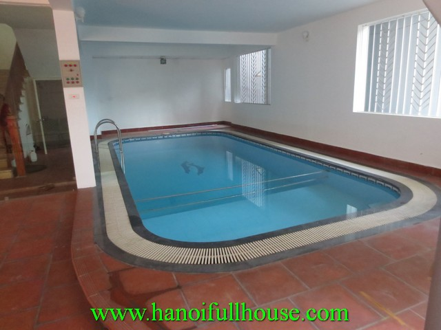 4 BEDROOM VILLA WITH SWIMMING POOL INSIDE FOR RENT IN XUAN DIEU, TAY HO DISTRICT