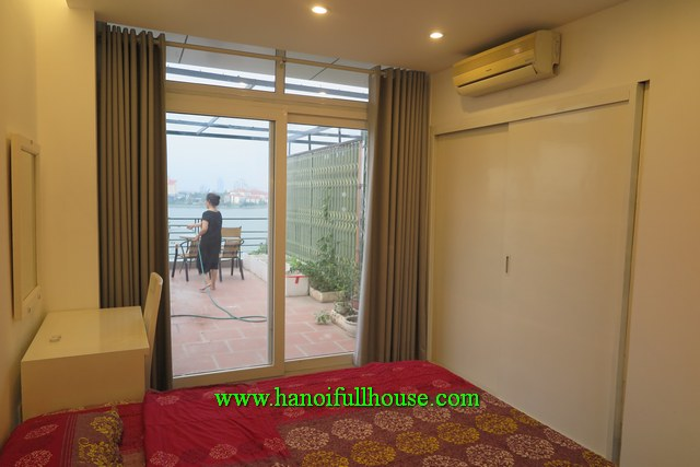 Apartment With Lakeview Beautiful Terrace One Bedroom In Tay Ho For Rent