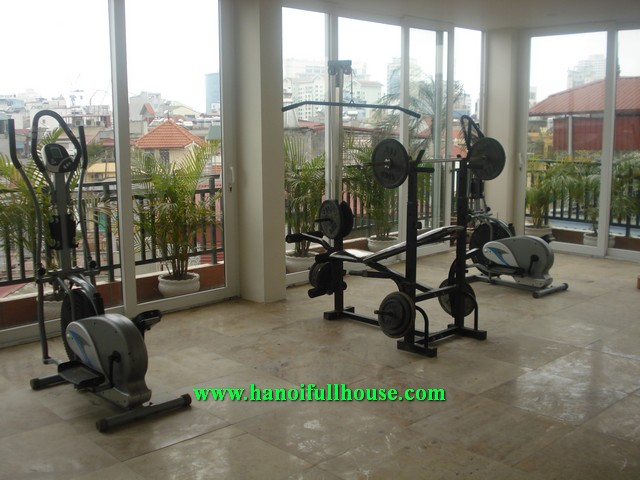 Beautiful serviced apartment with 1 bedroom for rent in Dao Tan street, Ba Dinh dist