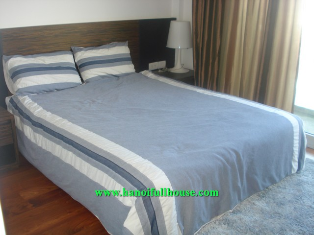 Beautiful garden serviced apartment with 1 bedroom for rent in To Ngoc Van street, Tay Ho dist, Ha Noi