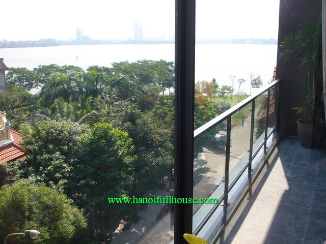 Luxury duplex serviced apartment with 2 bedrooms for rent in Tay Ho dist