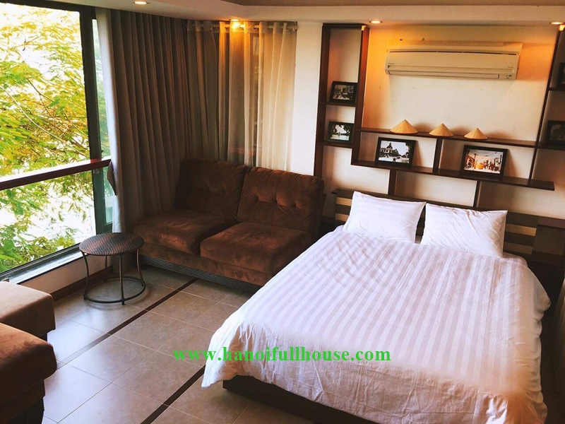 Lake view 02 bedrooms service apartment in Tayho, only $750