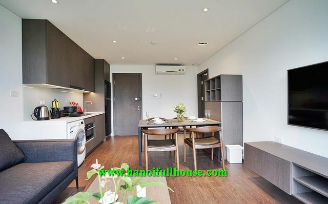 Brand new service apartment on To Ngoc Van street, a lot of natural light for rent.