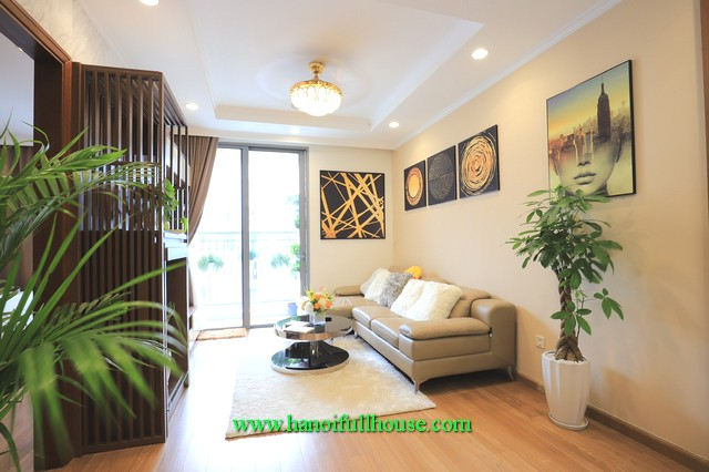 Ecstatic in the beautiful 2-bedroom apartment for rent in Park-hill, Times City Urban Hanoi