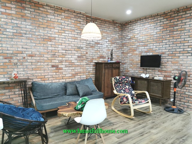 A lovely house with nice garden for rent in Tay Ho district. The house has only 1 large bedroom