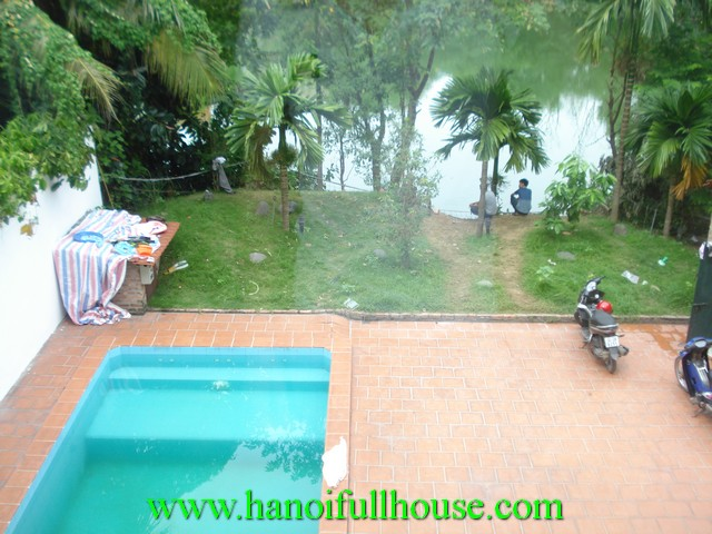 Beautiful villa with simming pool for rent in Tay Ho district, Ha Noi, Viet Nam
