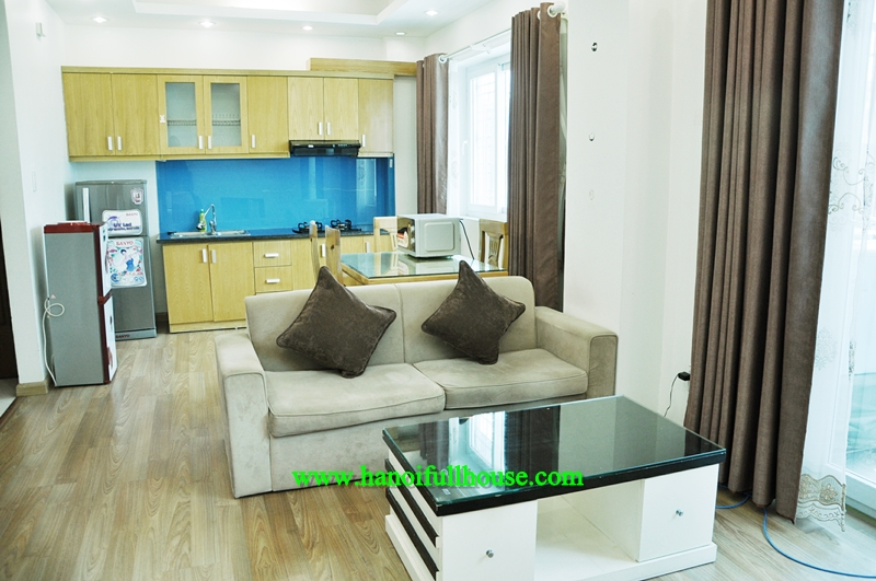 Modern Two-bedroom Serviced Apartment for rent with 850$/month in Ba Dinh district