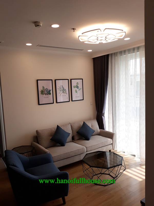 Luxurious apartment in Vinhomes Gardenia Ham Nghi street, 2 bedrooms, furnished for rent.