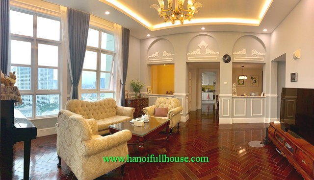 Hanoi condo for lease-192 m2, 3 BRs furnished condo to lease in The Manor, Me Tri street, Tu Liem dist