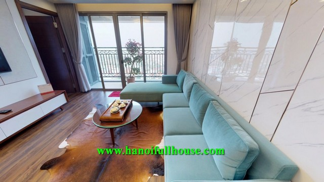 Apartment with 3 bedrooms, high floor at D '. Le Roi Soleil - Quang An for rent.