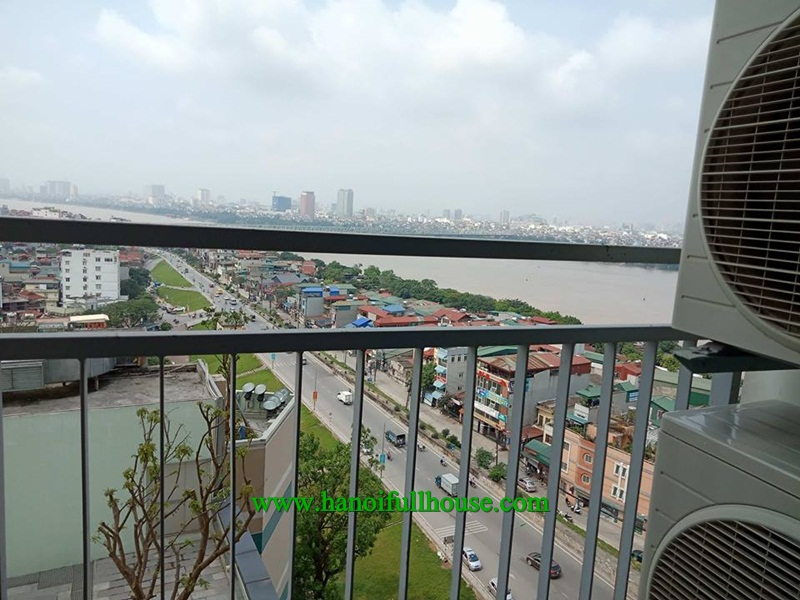 High floor three apartment in Mipec Riverside Long Bien, great view, furniture for rent.