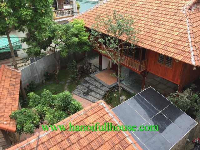 Garden villa for rent in Long Bien district, Ha Noi, Viet Nam