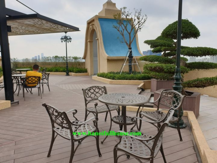 Beautiful studio on Eldorado Lac Long Quan for rent, wonderful terrace with Lake view