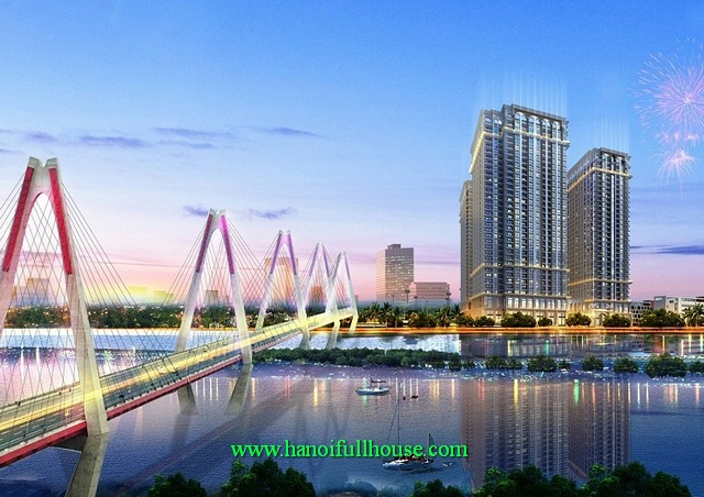 Luxury furnished apartments to rent in Sunshine Riverside buildings Tay Ho district