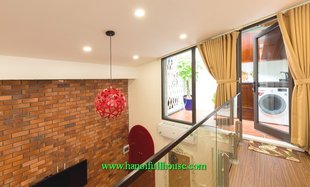 A wonderful house in central Hanoi has 1 storey and a loft, two bed, fully furnished for lease
