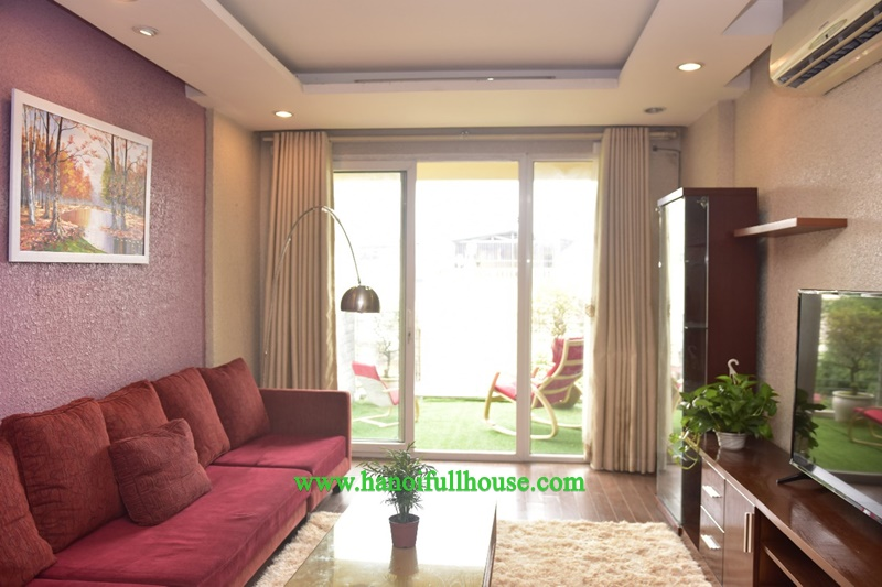 Duplex 03 bedrooms service apartment, full furniture, big balcony for lease
