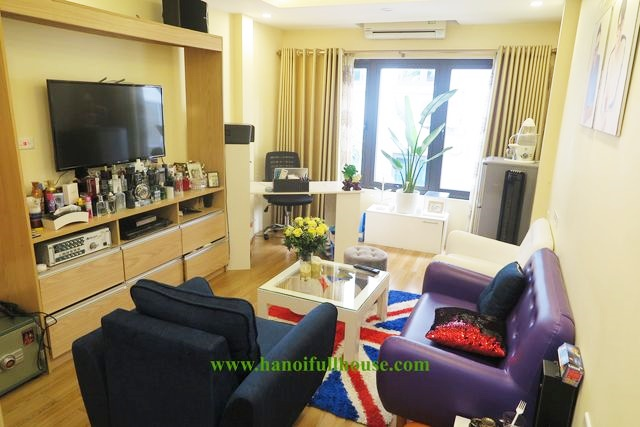 The house with 5 bedrooms and elevator near Truc Bach Lake for rent