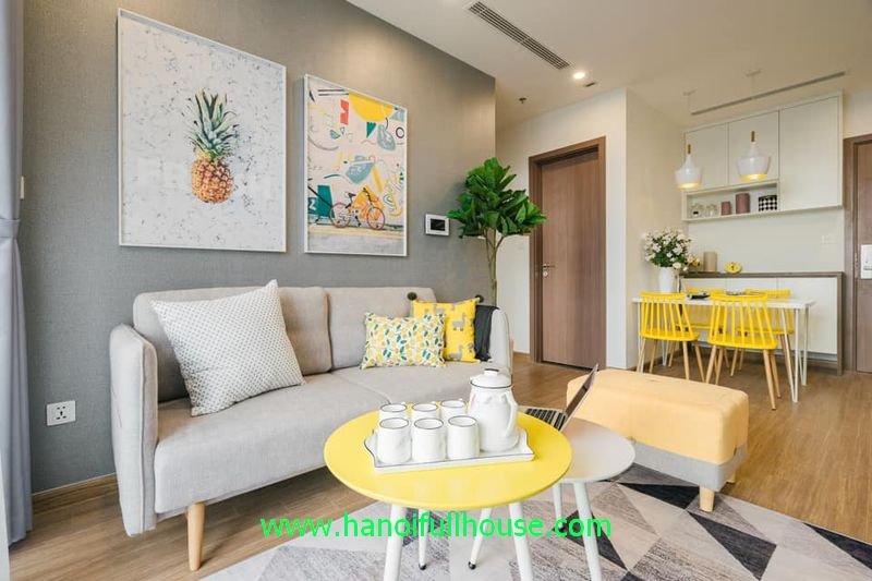 Apartment  in Vinhomes Skylake building Pham Hung for rent with 2 bedrooms.