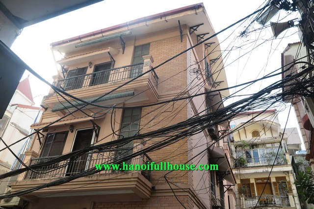 Well furnished house has 4 bedrooms for rent in Hoan Kiem, Ha Noi