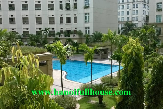 Luxury apartment with swimming pool, gym and shops for rent in Hanoi, Viet Nam