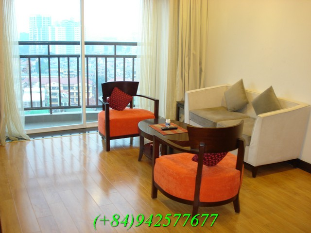 beautiful apartment for rent in Hoa Binh green building in Duong Buoi street, Ba Dinh district, Ha Noi, Vietnam