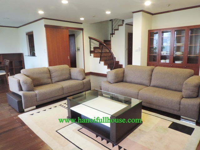 Duplex 2 bedroom apartment to lease in Tay Ho, Hanoi with luxury style