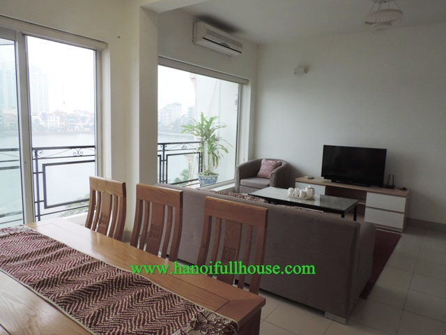 Lake view, bright apartment for rent in Tay Ho, Hanoi, 2 bedroom
