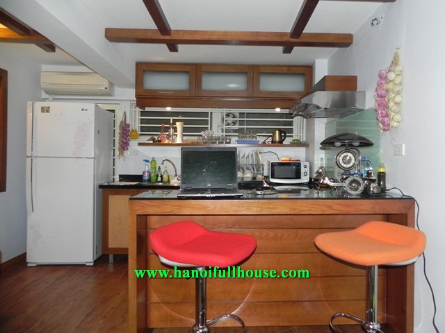 Perfect serviced apartment with 1 bedroom for rent in Tran Phu street, Ba Dinh dist, Ha Noi