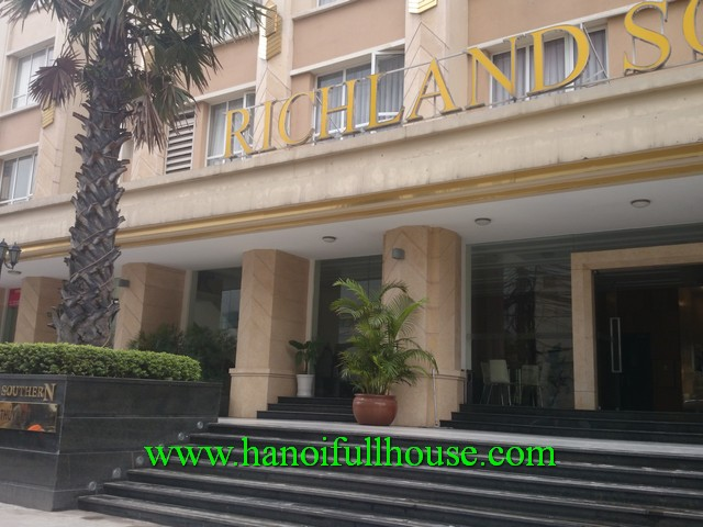 Hanoi Richland Southern apartment in Cau Giay dist for rent