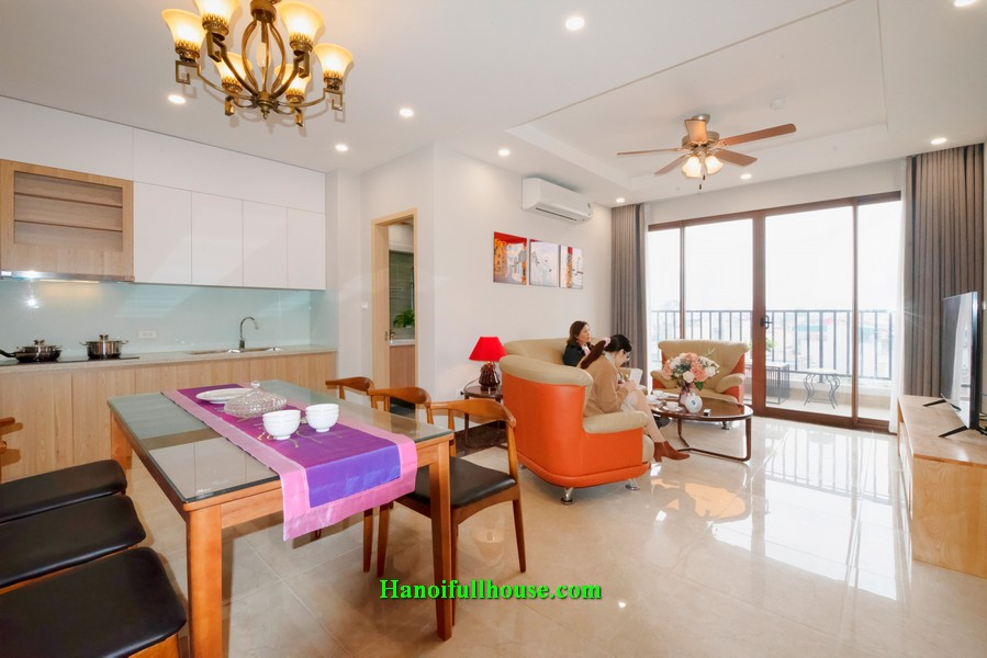 Spacious 2BR apartment near Bach Thao Botanical Garden, Ba Dinh dist for lease