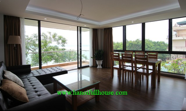 Amazing serviced apartment overlooking to Westlake for rent in Tay Ho