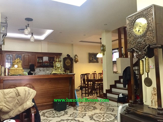 3-bedroom house with fully furnished in Bo De, Long Bien, Ha Noi. The house is close to Wellspring School