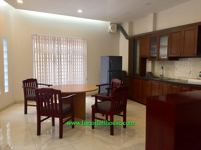 Balcony & terrace new house, 3 bedroom, furnished, car access in Long Bien dist
