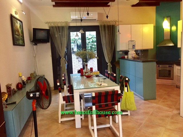 Western style house in West Lake-Tay Ho dist for lease. Garden, 3 bedroom, furnished