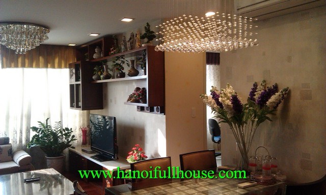 Richland Southern apartment on Xuan Thuy street for rent. Fully furnished 3 bedroom apartment