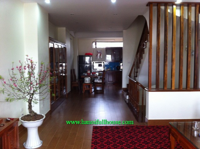 Fully furnished house with 4-bedroom in Tu Liem district for lease