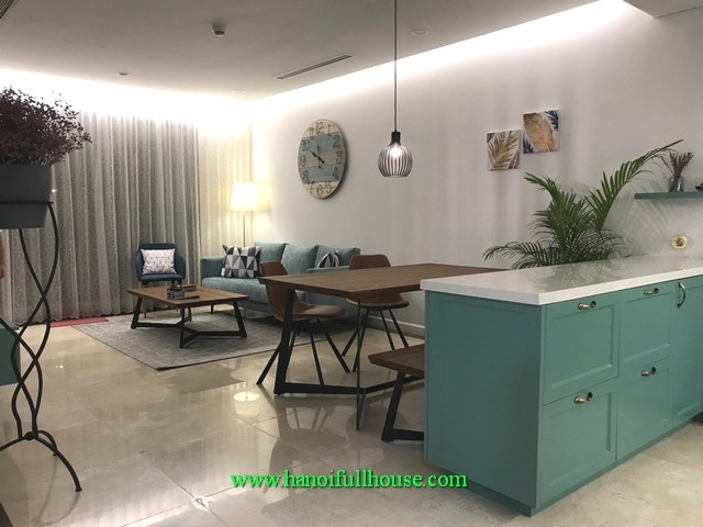 An extremely attractive design apartment with 3 bedrooms in Tay Ho district for foreigners to move in immediately