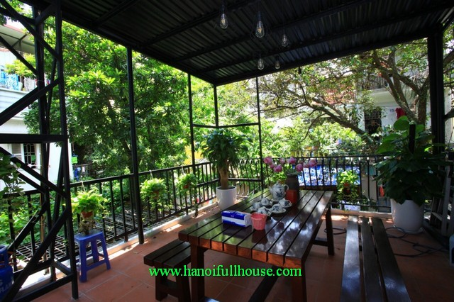 Three bedroom terrace house located in Hoan Kiem center for lease