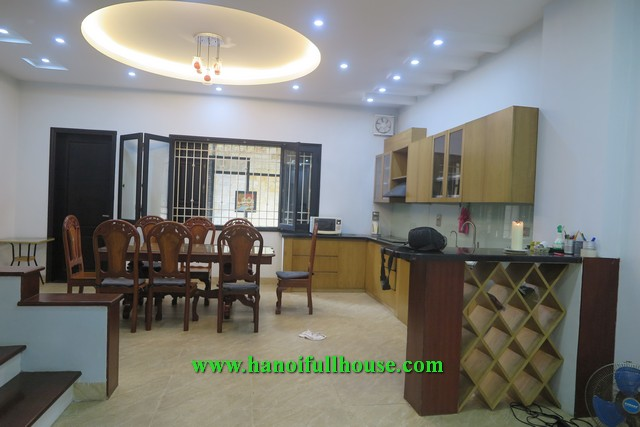 Great house on Ngoc Thuy near French school in Long Bien dist, Hanoi for rent.