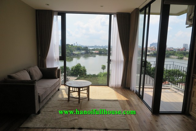 Amazing apartment with full of West lake view, brand new furniture and equipment for rent.