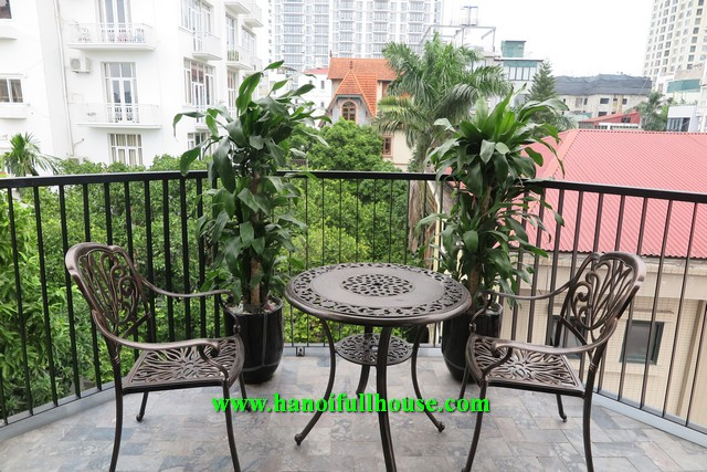 Brand new service apartment with 3 bedrooms, big balcony, lake view for rent.