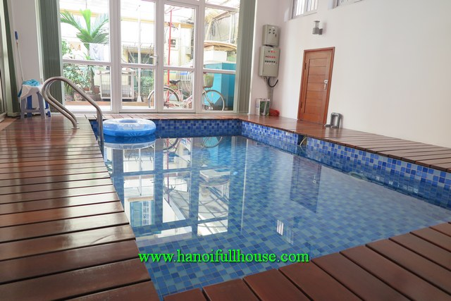 Nice villa in Tay Ho for rent. 5bedrooms, swimming pool, a garage