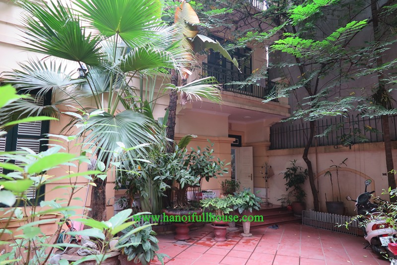 An amazing house in Tuong Mai street with a lot of trees, great garden, cheap price for rent.