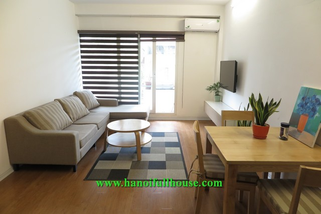 The one bedroom apartment on To Ngoc Van street for rent.