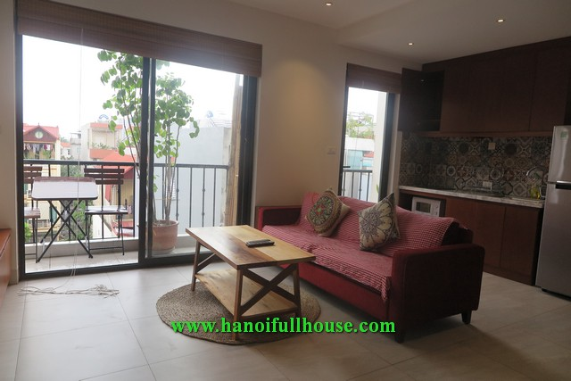 Great one bedroom apartment with nice balcony on Ngoc Thuy street for rent soon.